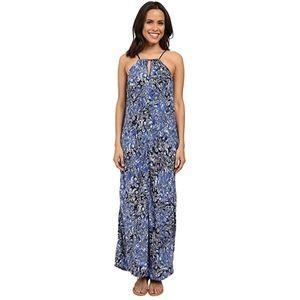 LUCKY BRAND - Ingido-floral Maxi Dress